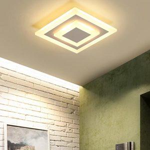 Lámparas de techo en dormitorio